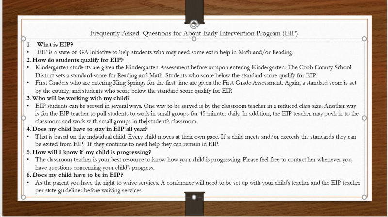 FAQ EIP