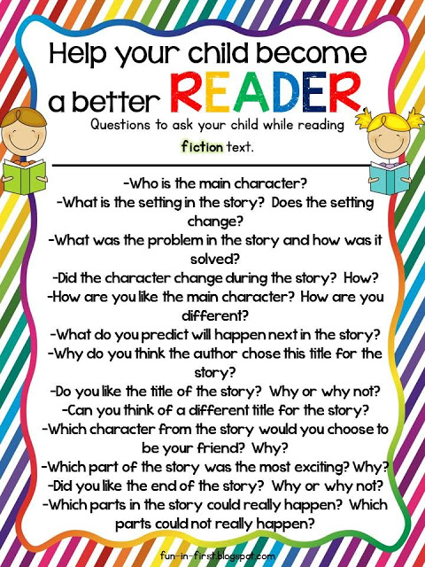How to help your child become a better reader fiction questions