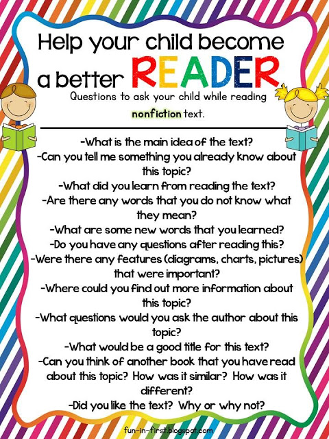 How to help your child become a better reader nonfiction questions